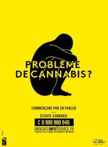 Problème de cannabis ? - Affiche jaune 40X60