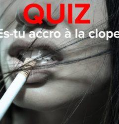 Quiz : Es-tu accro à la clope