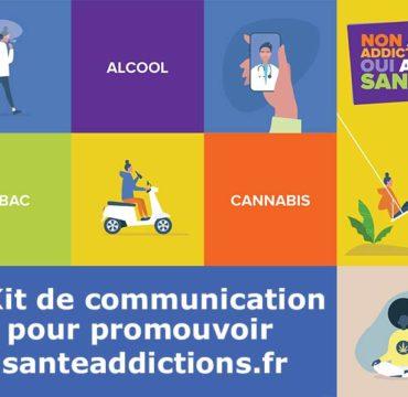 Communication sur le portail www.santeaddicitons.fr et la Semaine Non aux addictions, Oui à ma santé !